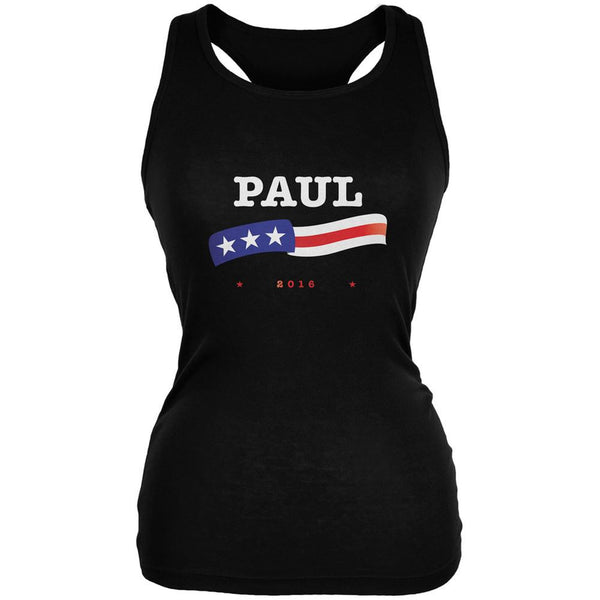 Election 2016 Rand Paul American Flag Black Juniors Soft Tank Top