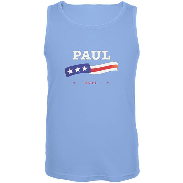 Election 2016 Rand Paul American Flag Carolina Blue Adult Tank Top