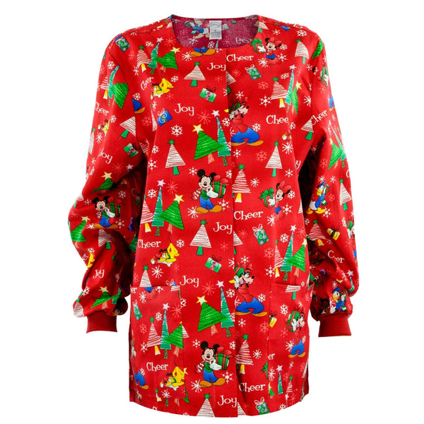 Mickey Mouse & Friends Christmas Women's Scrub Top
