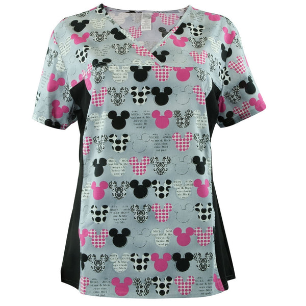 Mickey Mouse - All-Over Women's Scrub Top