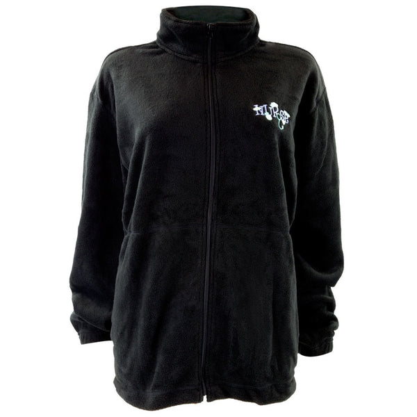 Nurse Embroidery Women's Zip-Up Fleece Jacket