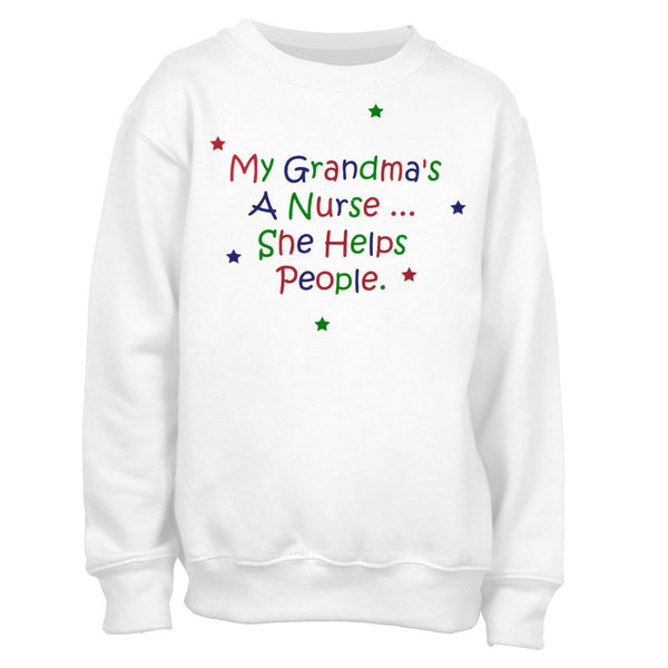 My Grandma's A Nurse Youth Crew Sweatshirt
