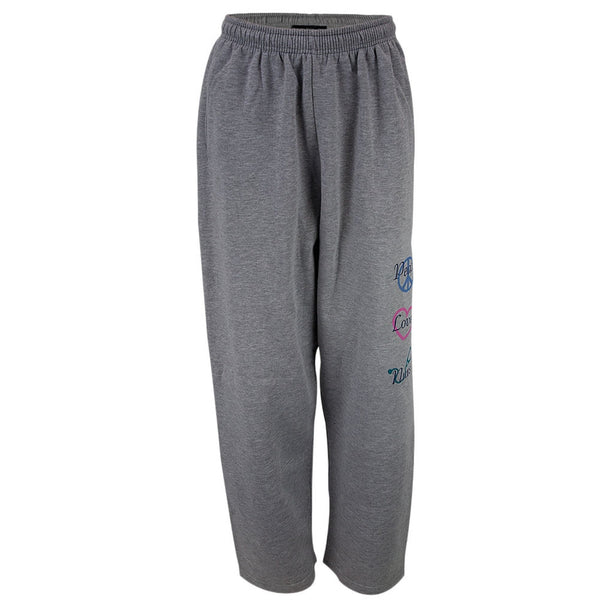 Peace Love Nurse Adult Sweatpants