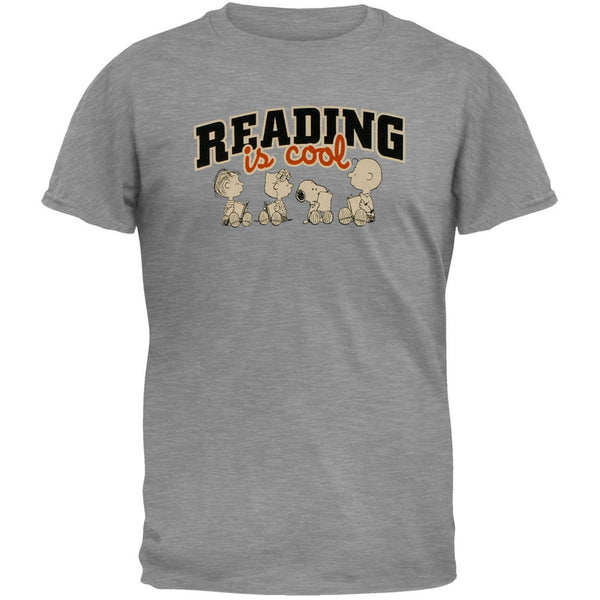Peanuts - Reading Is Cool Adult T-Shirt