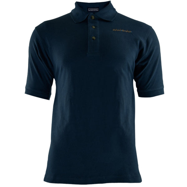 School Teacher Patch Navy Adult Polo T-Shirt