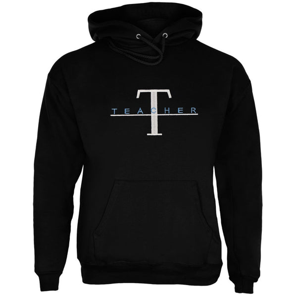 T For Teacher Embroidered Adult Hoodie