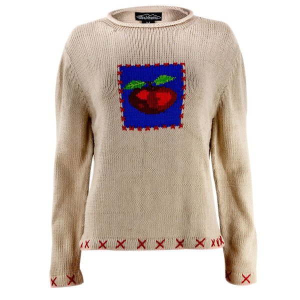 Teacher's Apple Women's Knit Pullover Sweater