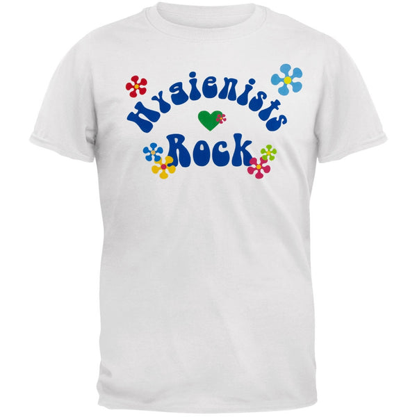 Hygienists Rock Hippie Style Logo Adult T-Shirt
