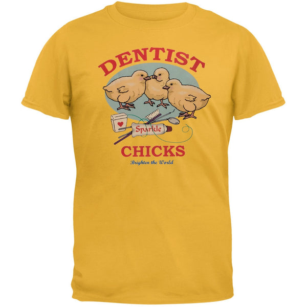 Dentist Chicks Brighten The World Adult T-Shirt