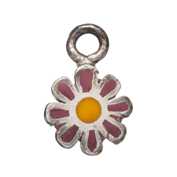 Purple & Yellow Flower Belly Charm