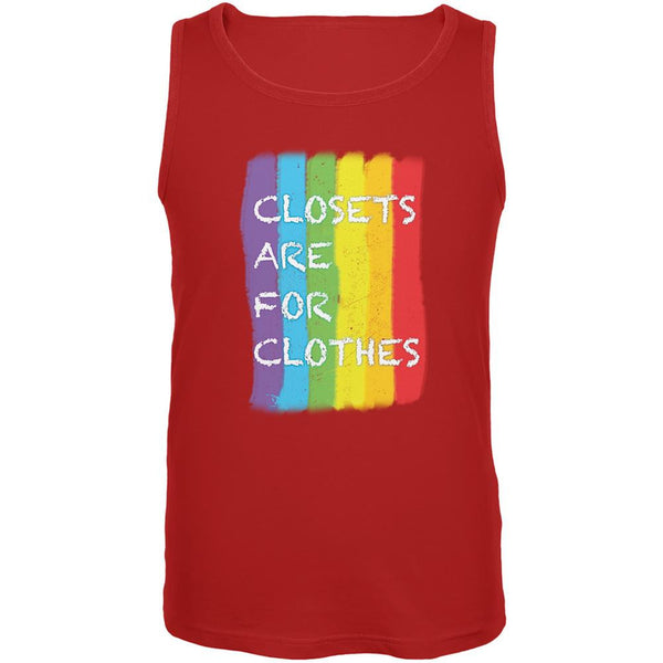 Gay Pride LGBT Closets Are For Clothes Red Adult Tank Top