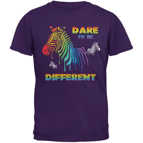 Gay Pride LGBT Dare To Be Different Purple Adult T-Shirt