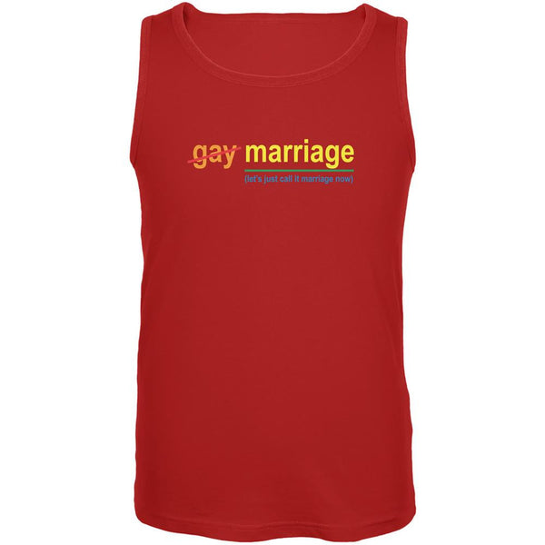 Gay Pride LGBT Let's Just Call It Marriage Red Adult Tank Top