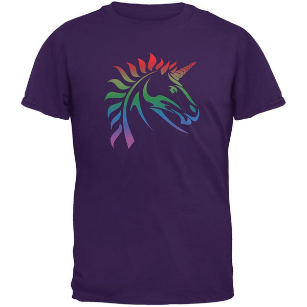 Gay Pride LGBT Rainbow Unicorn Purple Adult T-Shirt