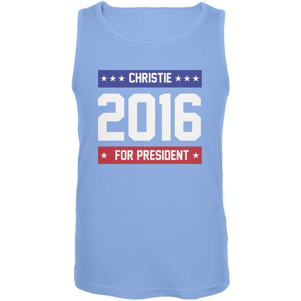 Election 2016 Christie For President Logo Carolina Blue Adult Tank Top