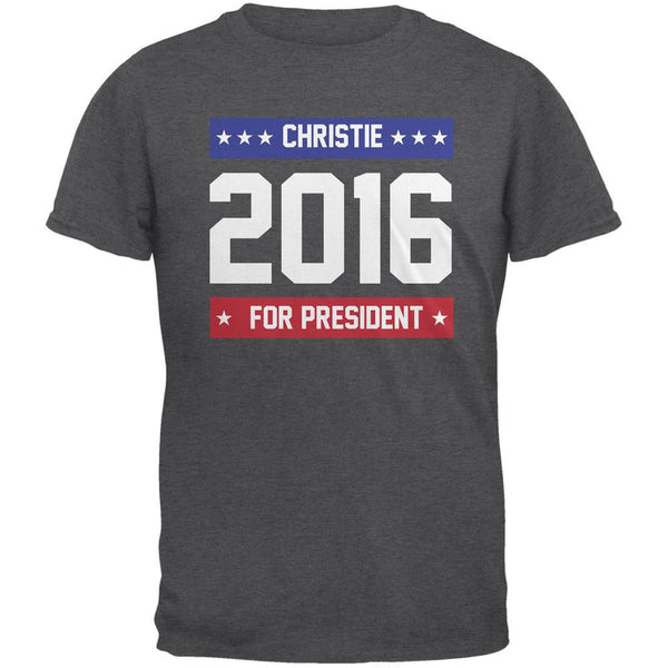 Election 2016 Christie For President Logo Dark Heather Adult T-Shirt