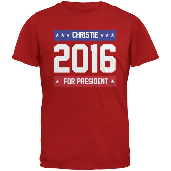 Election 2016 Christie For President Logo Red Adult T-Shirt