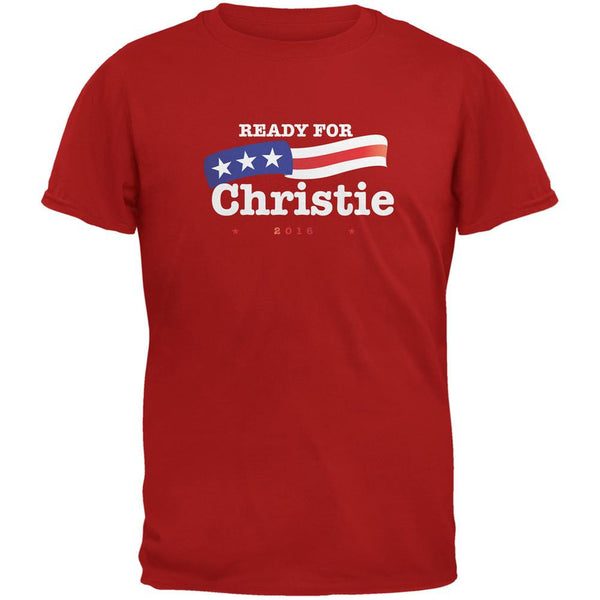 Election 2016 Ready for Christie Red Adult T-Shirt