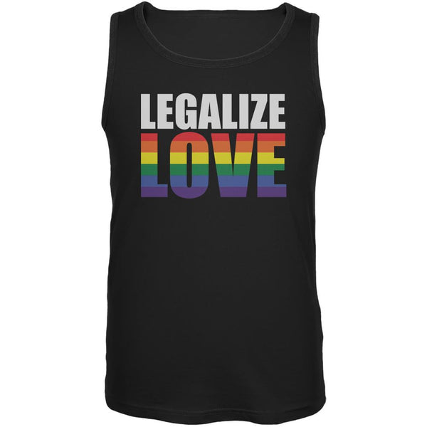 LGBT Legalize Love Rainbow Black Adult Tank Top