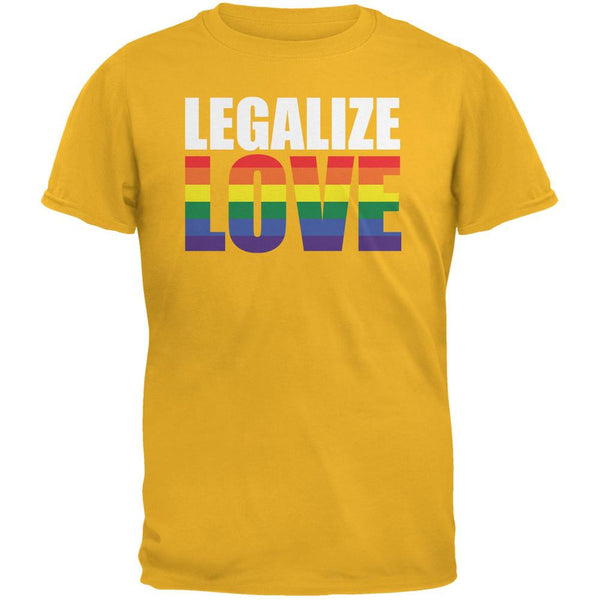 LGBT Legalize Love Rainbow Gold Adult T-Shirt