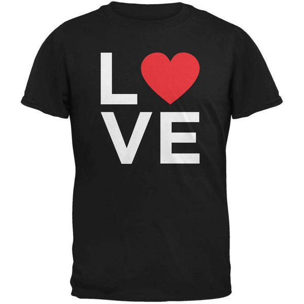Valentine's Day Love Stacked Heart Black Youth T-Shirt