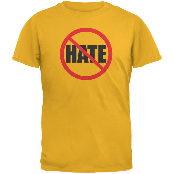 Anti Hate Gold Adult T-Shirt