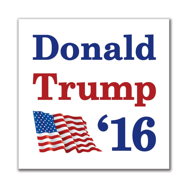 Election 2016 '16 Flag Donald Trump 4in. Square Sticker