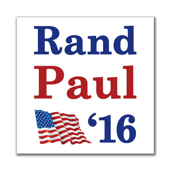 Election 2016 '16 Flag Rand Paul 4in. Square Sticker