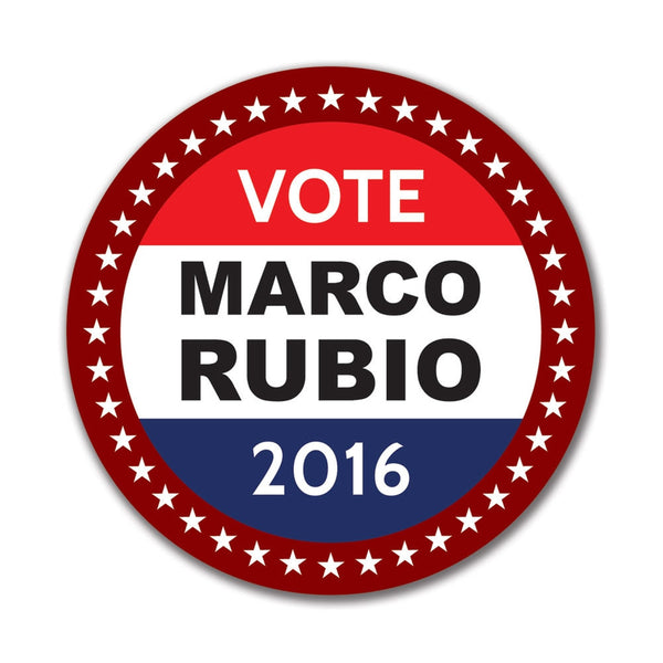 Election 2016 Badge Marco Rubio 4in. Round Sticker