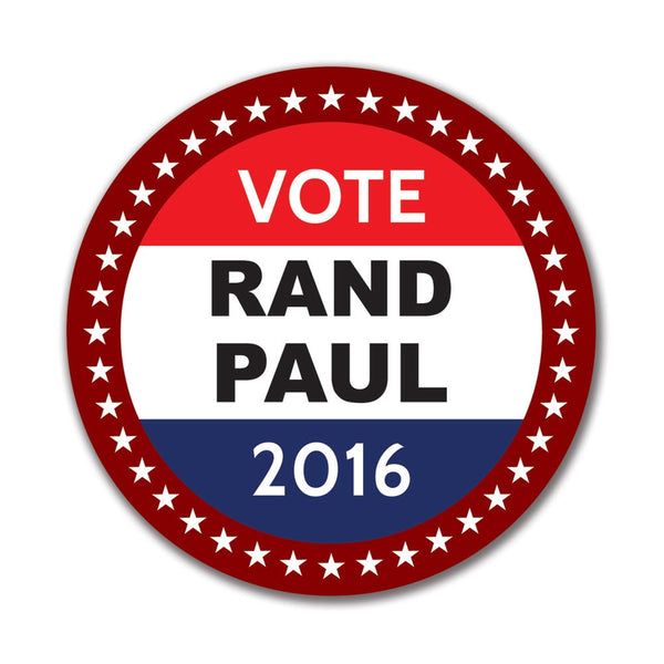 Election 2016 Badge Rand Paul 4in. Round Sticker