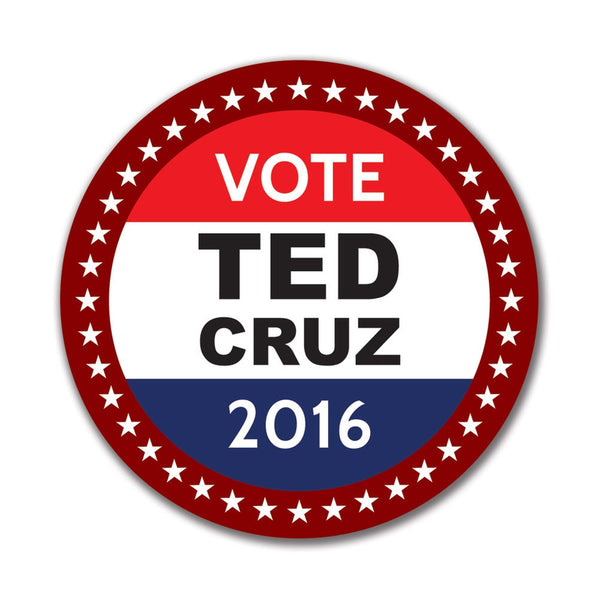 Election 2016 Badge Ted Cruz 4in. Round Sticker