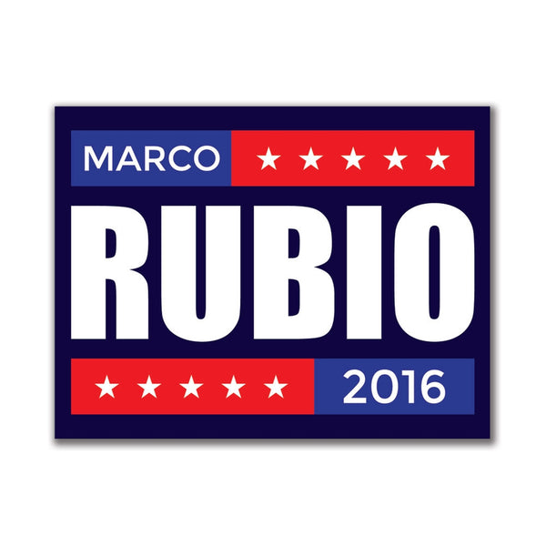 Election 2016 Marco Rubio Stacked 3x4in. Rectangular Sticker