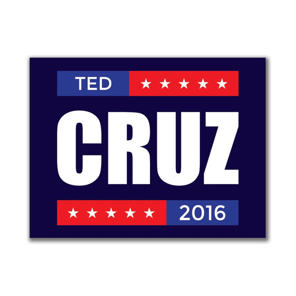 Election 2016 Ted Cruz Stacked 3x4in. Rectangular Sticker