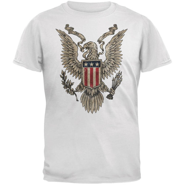 4th July Born Free Vintage American Bald Eagle White Adult T-Shirt