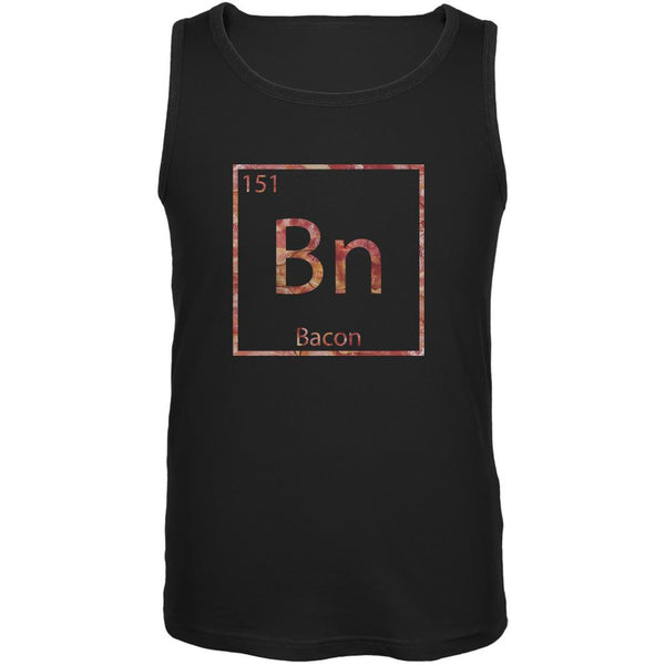Bacon Periodic Table Element Black Adult Tank Top