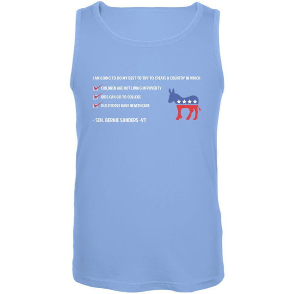 Election 2016 Bernie Sanders Create a Country Blue Adult Tank Top
