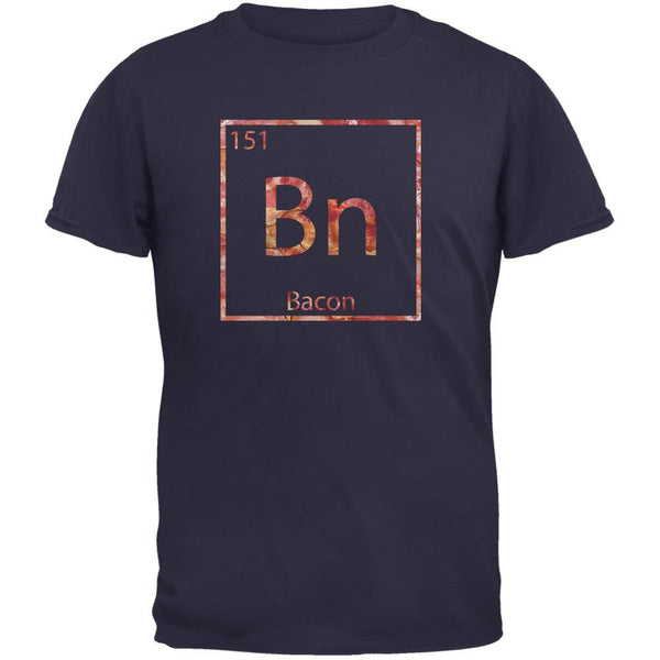 Bacon Periodic Table Element Navy Adult T-Shirt