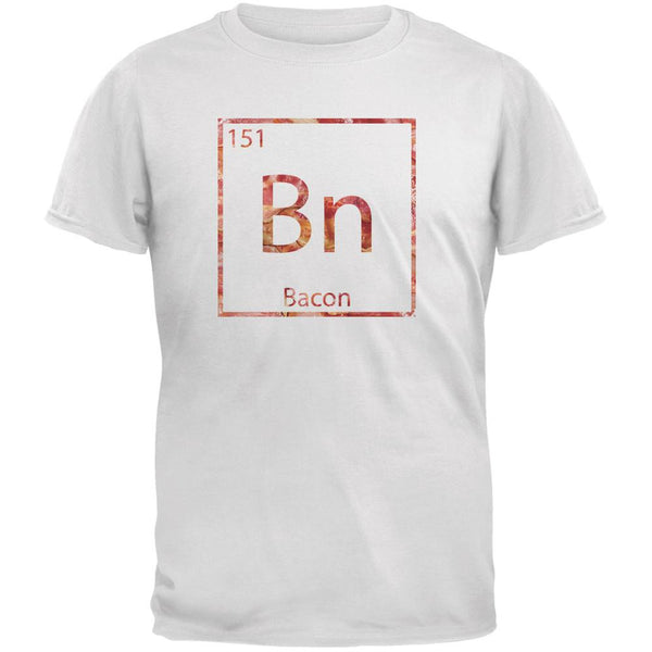 Bacon Periodic Table Element White Adult T-Shirt