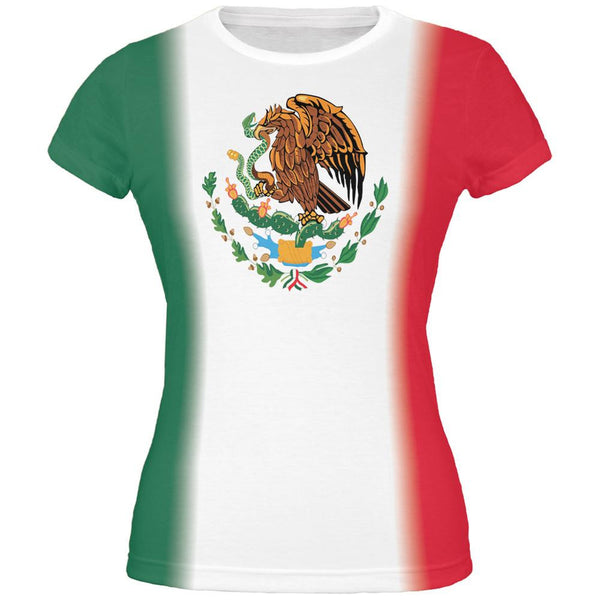 Mexican Flag Cinco De Mayo All Over Juniors T-Shirt