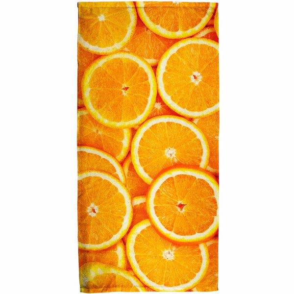 Orange Oranges Citrus All Over Bath Towel