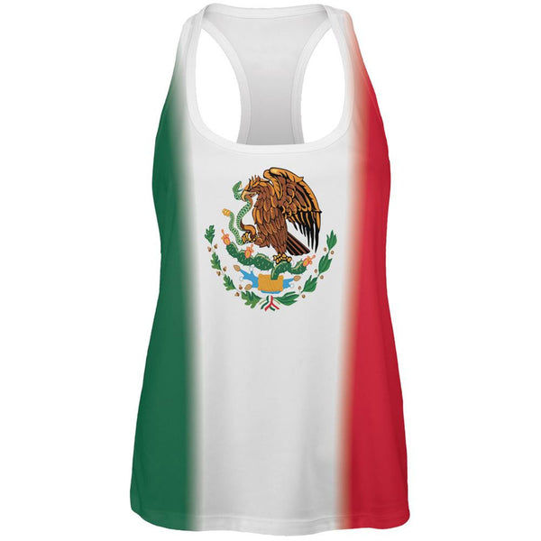 Mexican Flag Cinco De Mayo All Over Womens Work Out Tank Top