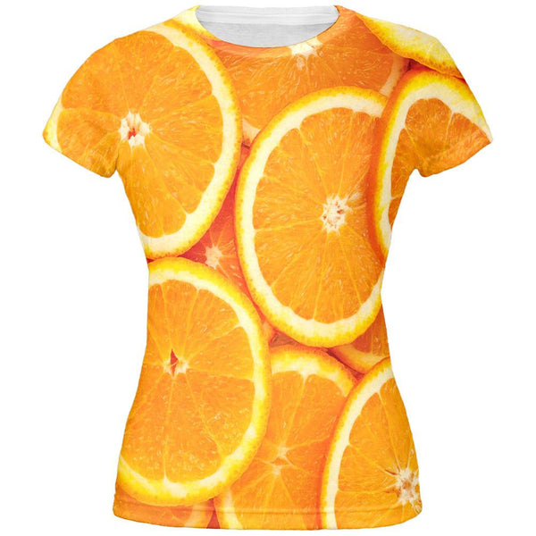 Orange Oranges Citrus All Over Juniors T-Shirt