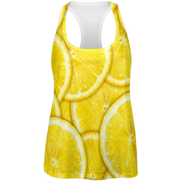 Lemons Citrus All Over Womens Work Out Tank Top