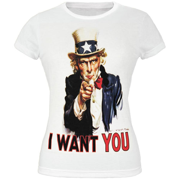4th of July Patriotic Uncle Sam All Over Juniors T-Shirt
