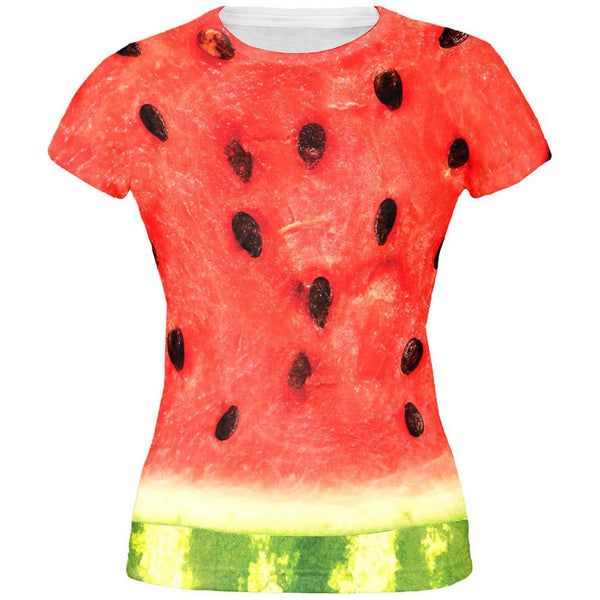 Watermelon Costume All Over Juniors T-Shirt
