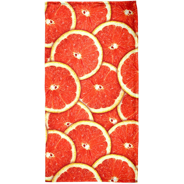 Grapefruit Citrus All Over Beach Towel