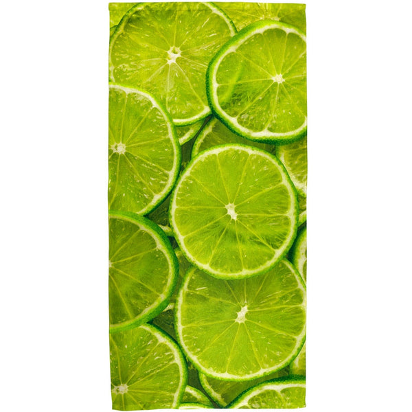 Lime Limes Citrus All Over Bath Towel