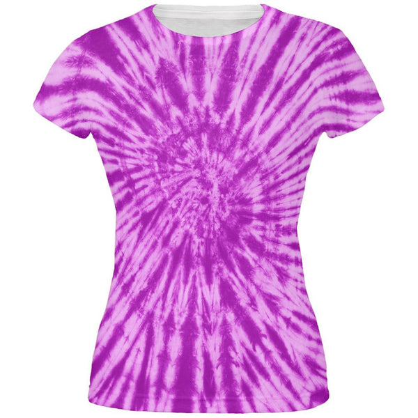 Purple Tie Dye All Over Juniors T-Shirt