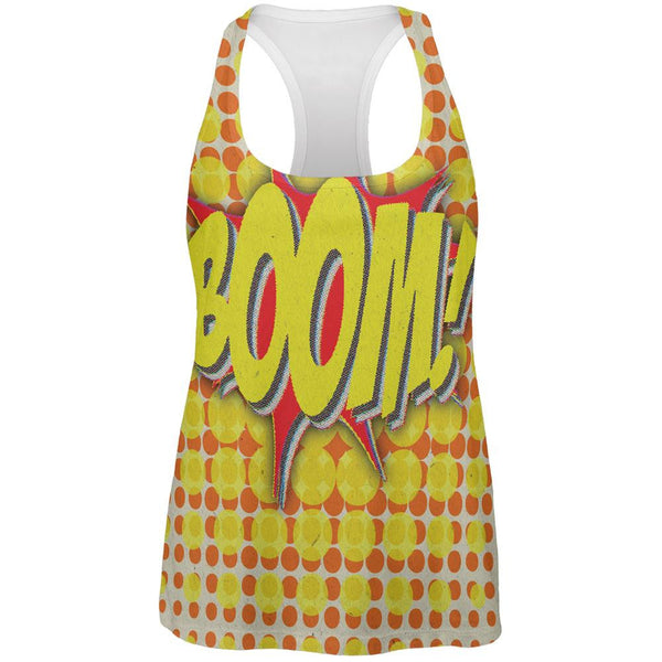 BOOM Comic Book Super Hero All Over Womens Work Out Tank Top