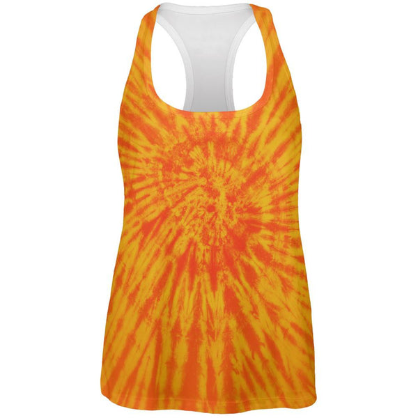Sunrise Tie Dye All Over Womens Work Out Tank Top